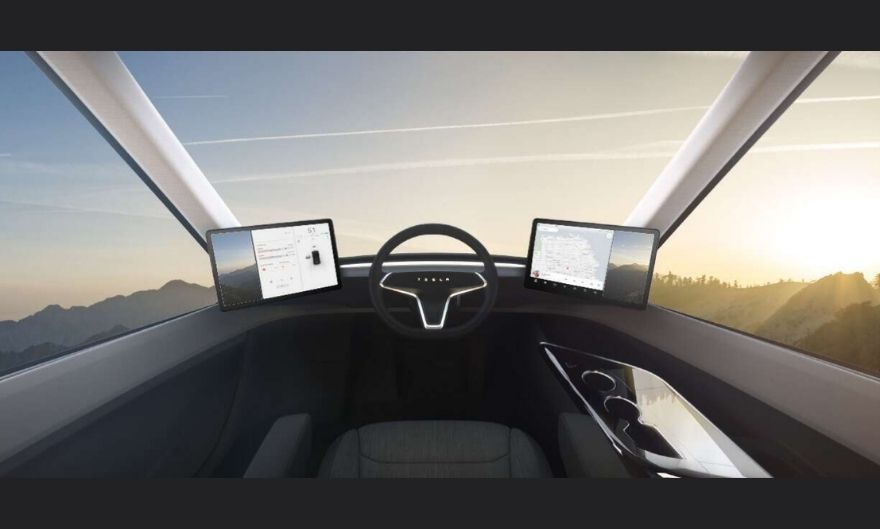 Elon musk truck interior for Electric Semi Truck 2